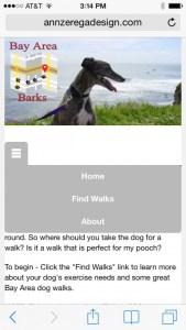 screen shot of iOS site
