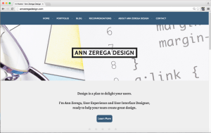 photo of Ann Zerega Design Home Page updated to meet Accessibility Contrast Guidelines