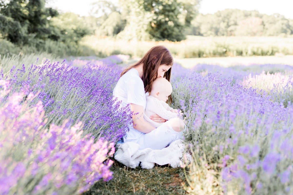 A Lavender Field & My Littlest Babe