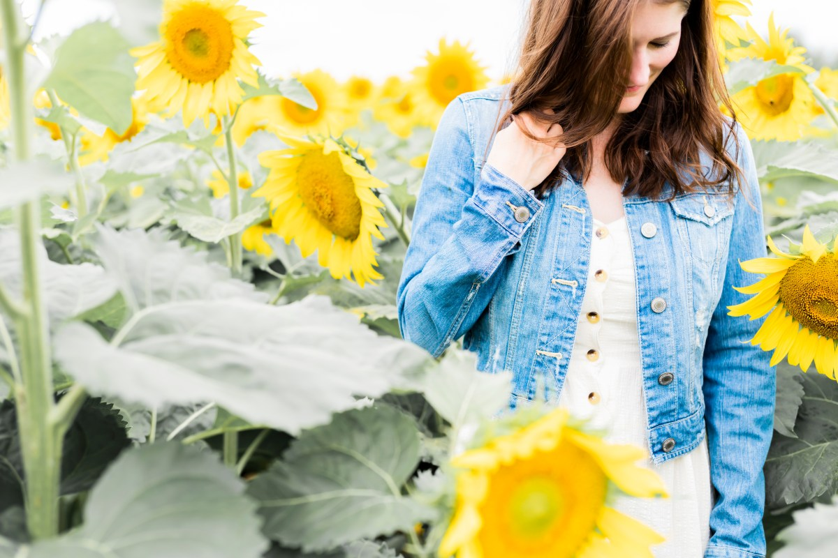 A Sunflower Field & A White Dress