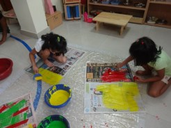 Eco-friendly Art at Anokhi Montessori