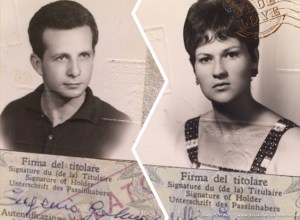 Grandparents Italian Passport Photo (1 of 1)