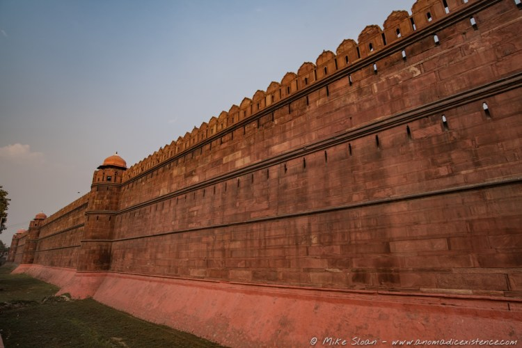 Sandstone Wall, Red Fort, Old Delhi, New Delhi, India