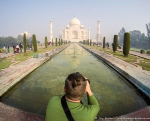 Mike capturing the Taj Mahal.