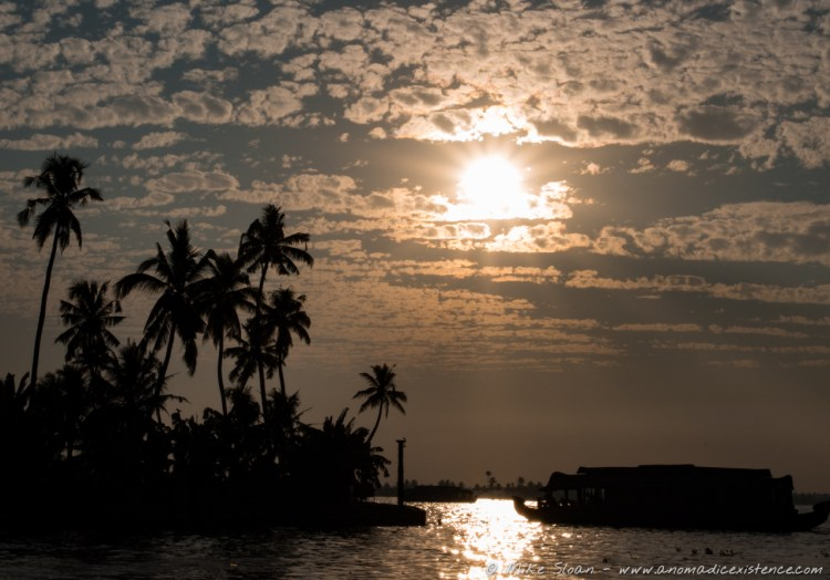 Mesmerising sunsets over the backwaters.