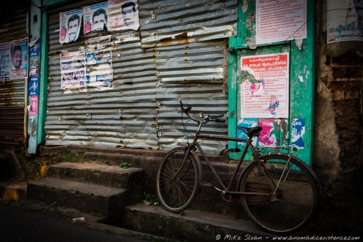 Street photography in Fort Kochi.