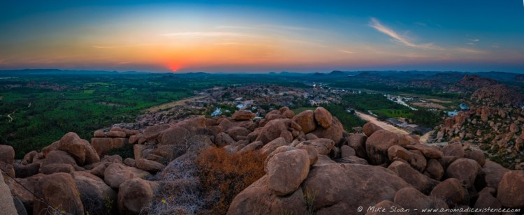 Sunsets over Hampi.