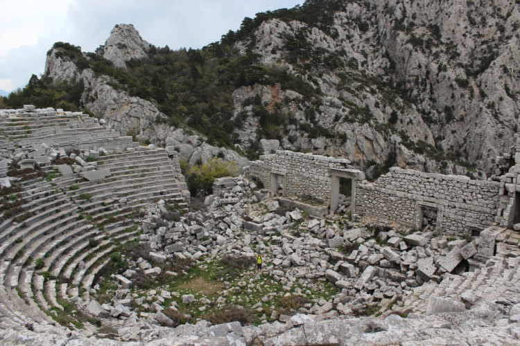 These ancient ruins of Termessos in Antalya, Turkey, cost us nothing - and we were the only ones there.