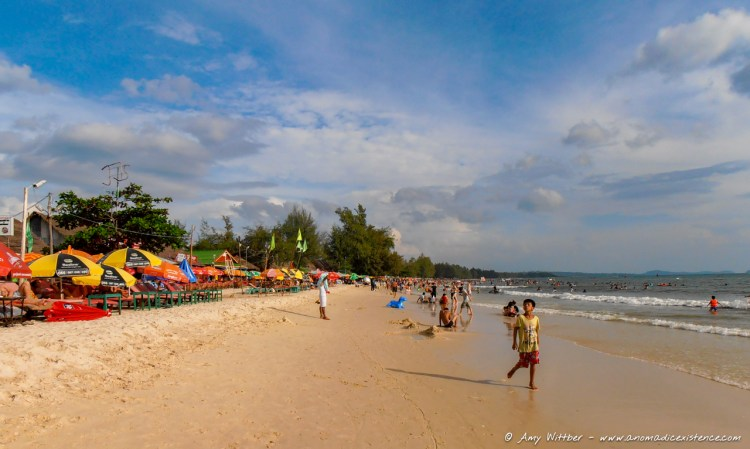 The main beach in Cambodia - not the most beautiful but perfect for relaxing.