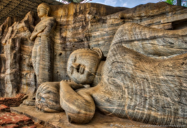 The stunning standing Buddha and reclining Buddha - all carved from one slab of granite.