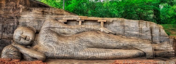 The reclining Buddha of Gal Vihara, 14.12 metres.