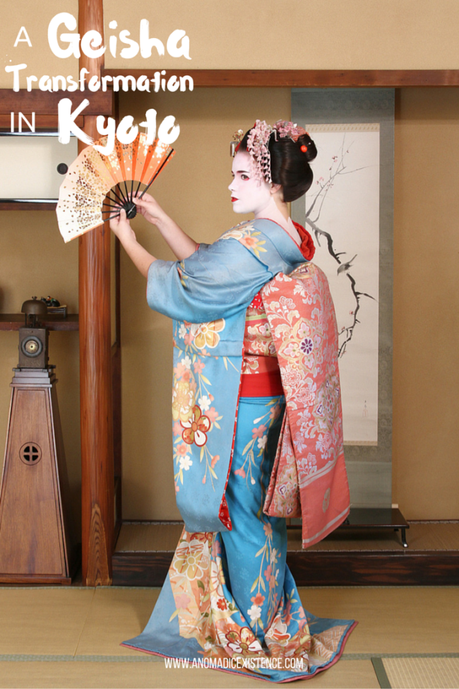 A Geisha Transformation in Kyoto