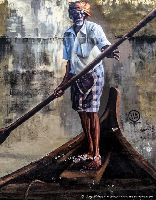 """Old Man Rowing Boat"" Klang Street"