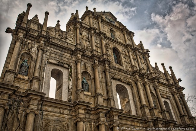 Ruins of St Paul, Cathedral, Portuguese, Macau, China