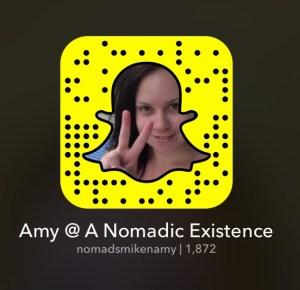 Snapchat Snapcode: nomadsmikenamy