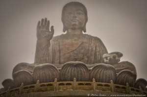 The Big Buddha on Lantau Island, Hong Kong.