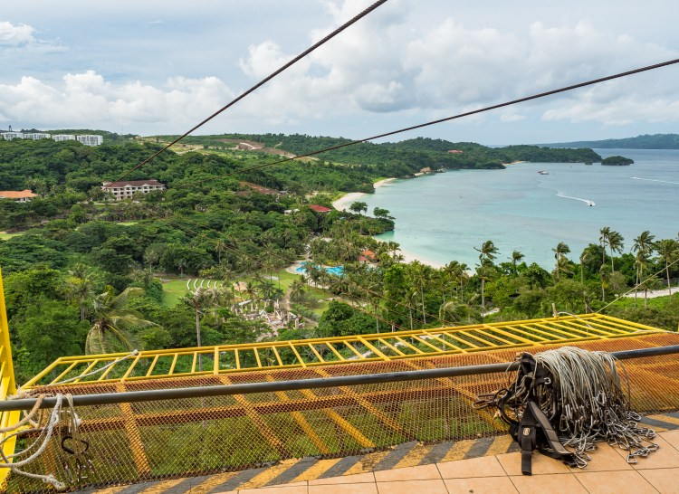 The Happy Planet Zip-lining Station has amazing views over Boracay!