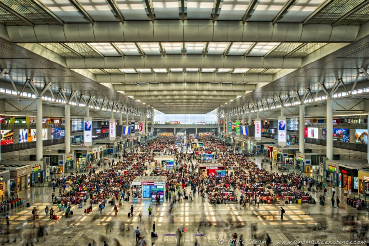 Shanghai Hongqiao Railway Station - the biggest in Asia and one of the busiest! Just being here is stressful in itself!