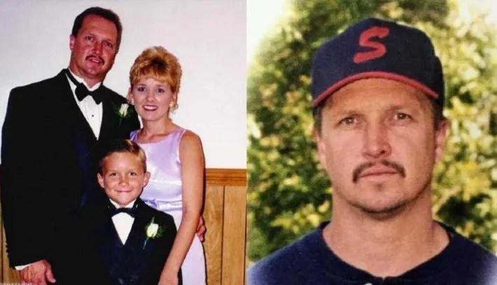 Famille Whitney avant l'accident.  À droite, le défunt Andy Whitney