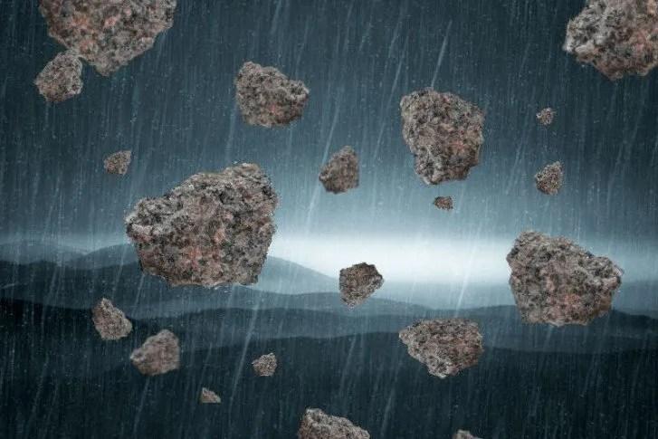 Chute de pierre