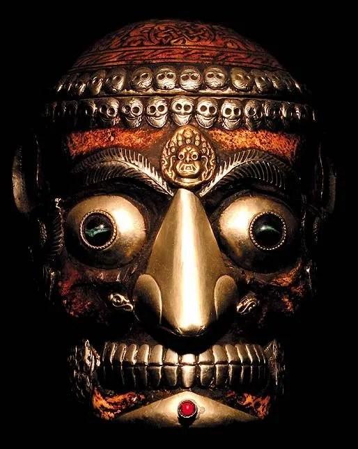 Masque rituel tibétain