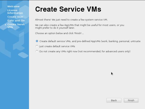 Create VM's