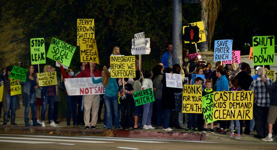 Porter Ranch-protestos-