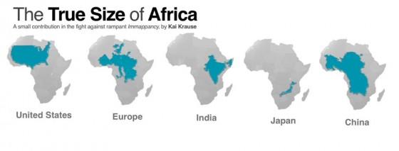 In October 2010, The German Computer Software Wizard, Kai Krause Stirred A  Huge Controversy In The West With A Map Entitled U201cThe True Size Of Africa.