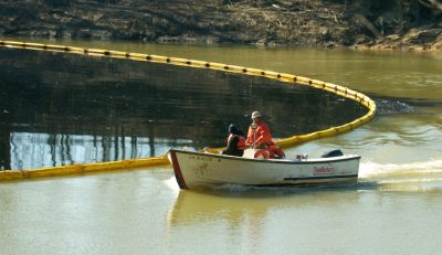 A previous Sunoco spill dumped 63,000 gallons of crude oil into the Kentucky river. Credit – Fortune