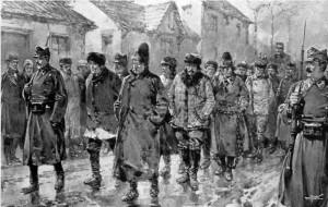 Soldai escorteaz rani rsculai la 1907