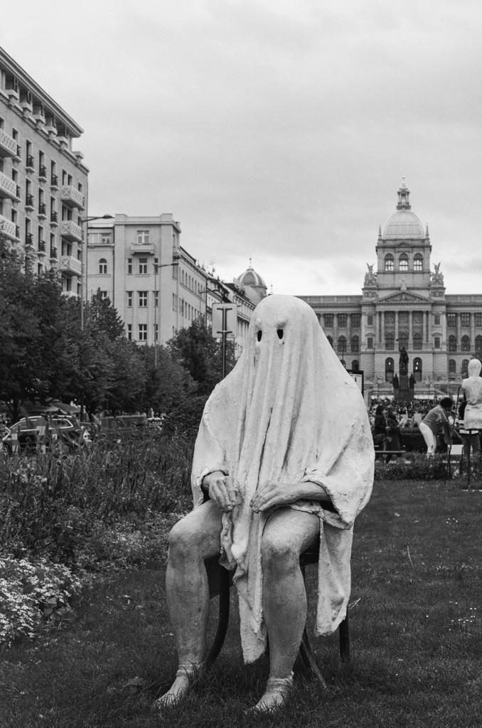 Sitting Ghost in Wenceslas Square