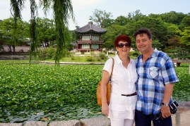Mom and dad at their summer tea house