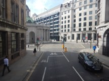 Approaching The North Side Of The Bank Of England