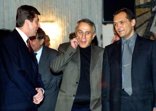 Георги Първанов, Тошо Тошев и Васил Божков. Снимка: Булфото