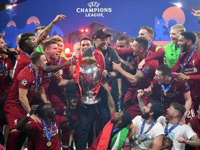 Liverpool Win the 2018/2019 Champions League Trophy