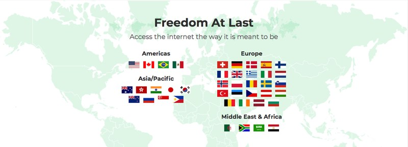 BulletVPN countries