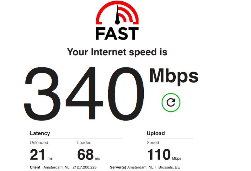 BulletVPN Speed Test 2