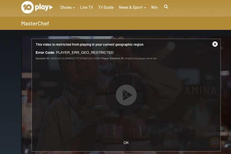 TenPlay Geo-error