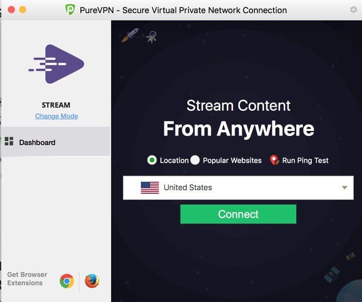 PureVPN Mac App Connection