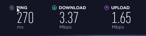 Surfshark speed test 3: Distant server