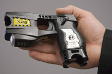 The Quebec government found problems with five Taser X26 stun guns, sparking a provincewide recall of the weapons. (Jonathan Hayward/Canadian Press)