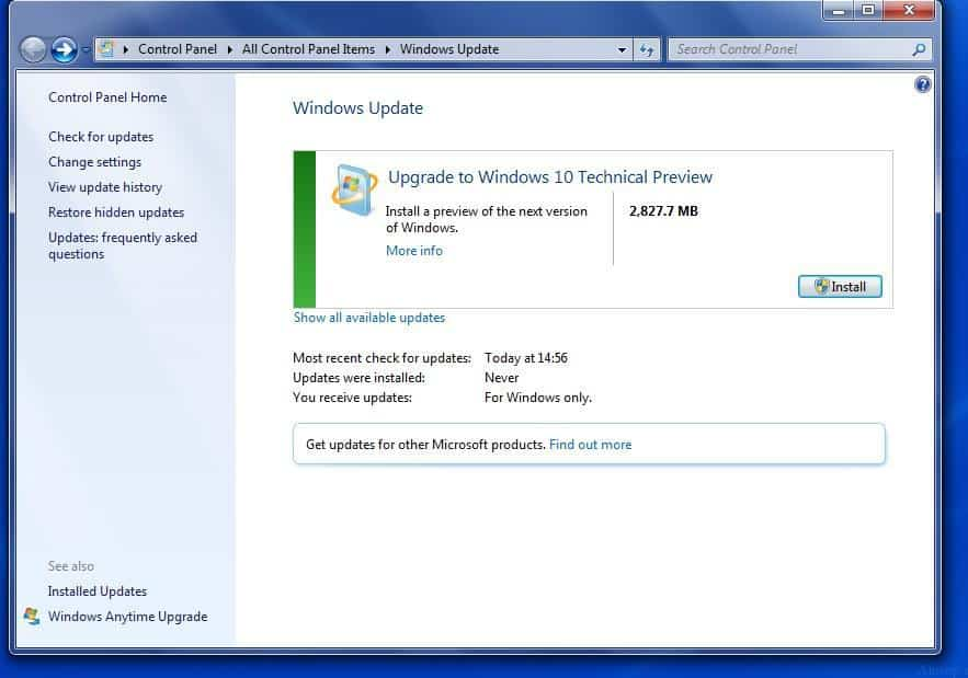 how to upgrade windows 7 laptop to windows 10