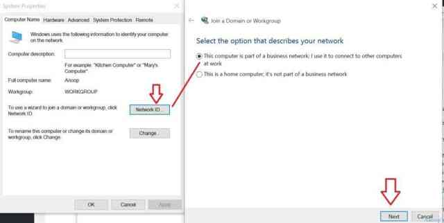 how to join a domain in windows 10