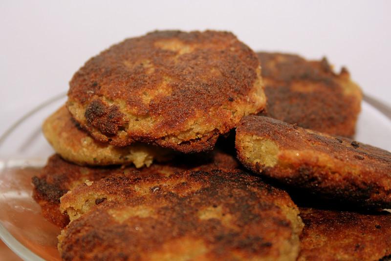 Pan fried, zucchini falafel