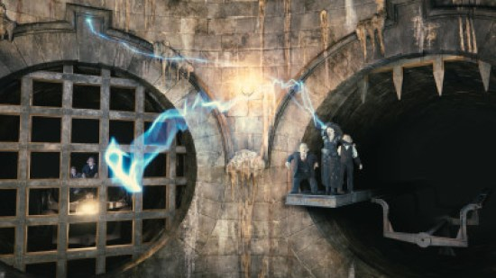 This summer, guests can experience the next generation thrill ride, Harry Potter and the Escape from Gringotts – the signature attraction found in The Wizarding World of Harry Potter – Diagon Alley at Universal Orlando. Guests will become part of the iconic moment from the Harry Potter film series where Harry, Ron and Hermione break into Gringotts bank to retrieve a magical object that will help defeat Lord Voldemort. The groundbreaking attraction combines the most innovative technology ever created, 360-degree themed sets, 4K digital high-definition animation, state-of-the-art 3-D Infitec projection systems and live special effects with beloved characters and breathtaking moments from the final Harry Potter book and film. The Wizarding World of Harry Potter – Diagon Alley will bring even more of Harry Potter's adventures to life. The new area will double the size of the sweeping land already found at Universal Orlando, expanding the spectacularly themed environment across both Universal Studios and Islands of Adventure. For more information, visit www.UniversalOrlando.com/WizardingWorld. HARRY POTTER, characters, names and related indicia are trademarks of and © Warner Bros. Entertainment Inc. Harry Potter Publishing Rights © JKR. (s14) © 2014 Universal Orlando Resort. All rights reserved.