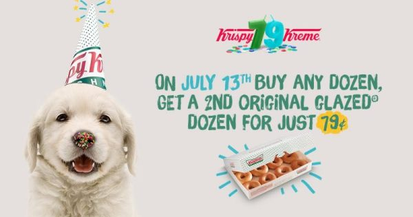 krispy kreme doughnuts birthday