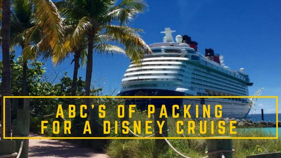 Packing Tips Disney Cruise