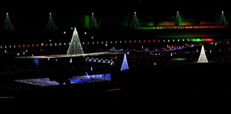 initiative by aaa carolinas foundation for traffic safety has partnered with charlotte motor speedway to offer fans safe family friendly holiday fun - Charlotte Motor Speedway Christmas Lights 2014