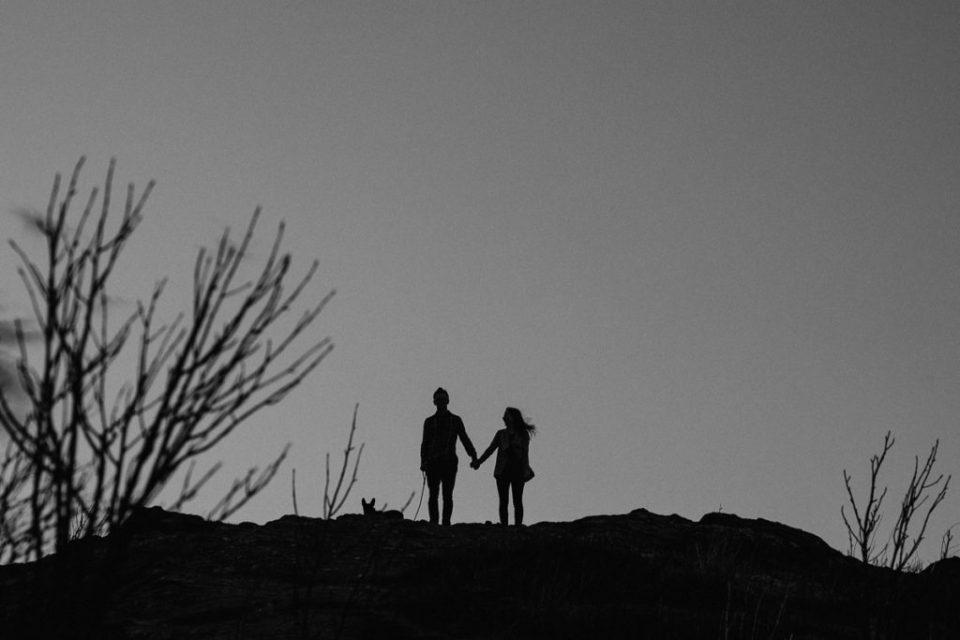 adventurous-asheville-engagement-photos-at-sunset-on-black-balsam-knob
