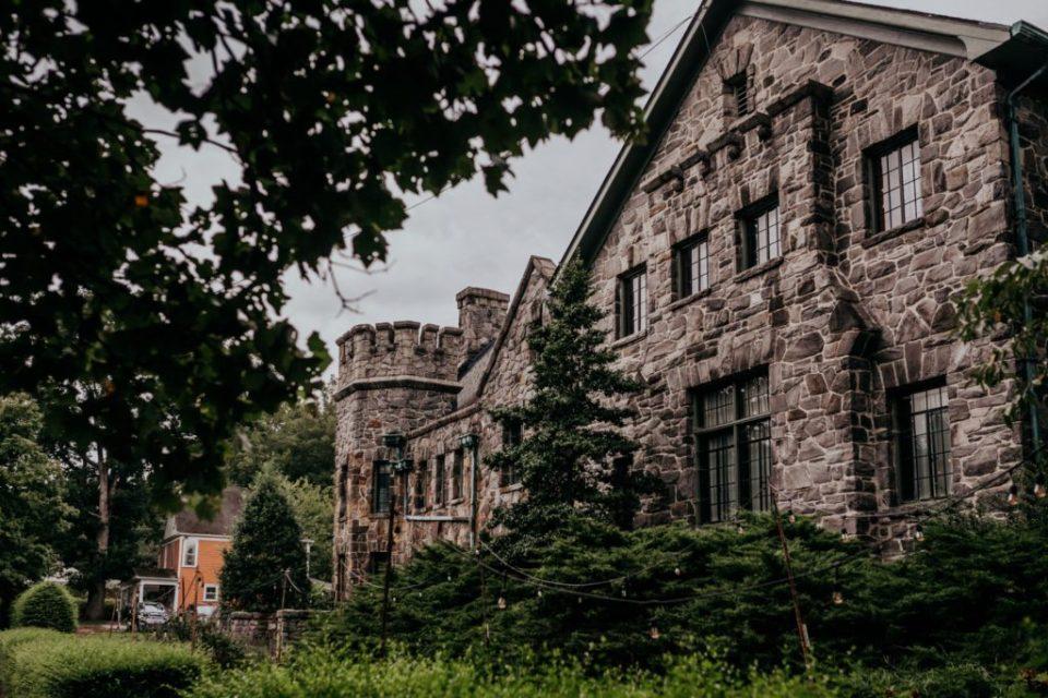 Wide shot of the castle at Homewood Asheville.